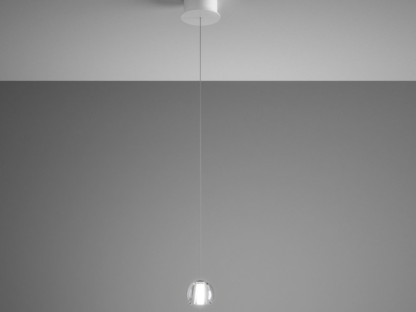 Direct light crystal pendant lamp MULTISPOT BELUGA | Direct light pendant lamp - Fabbian