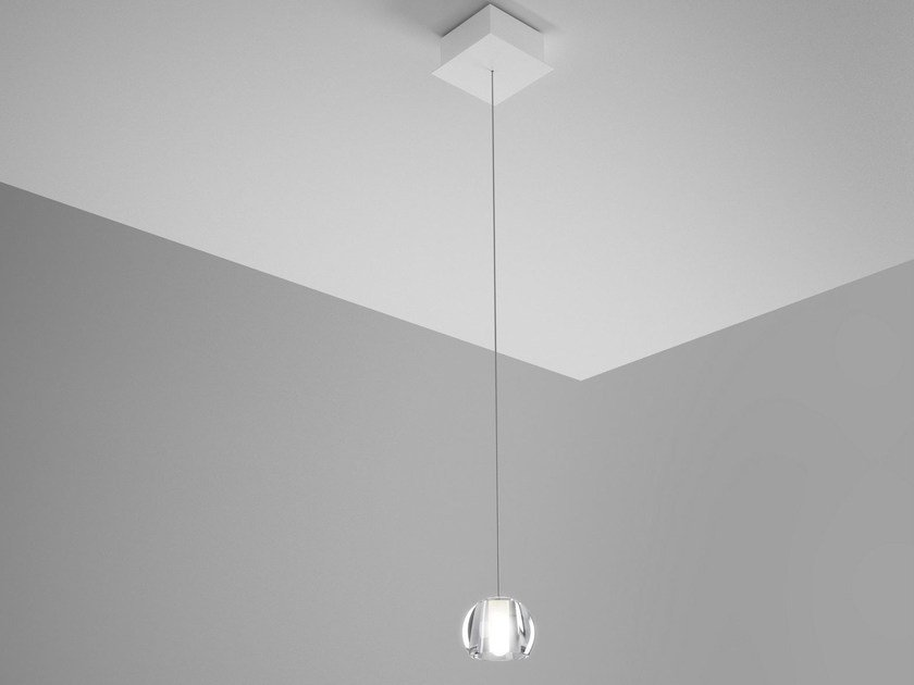 Direct light crystal pendant lamp MULTISPOT BELUGA | Pendant lamp - Fabbian