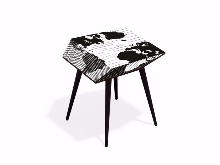 Beech wood and HPL coffee table MUNDI XL50 - Bazartherapy