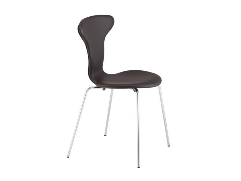 Stackable leather chair MUNKEGAARD | Leather chair - HOWE