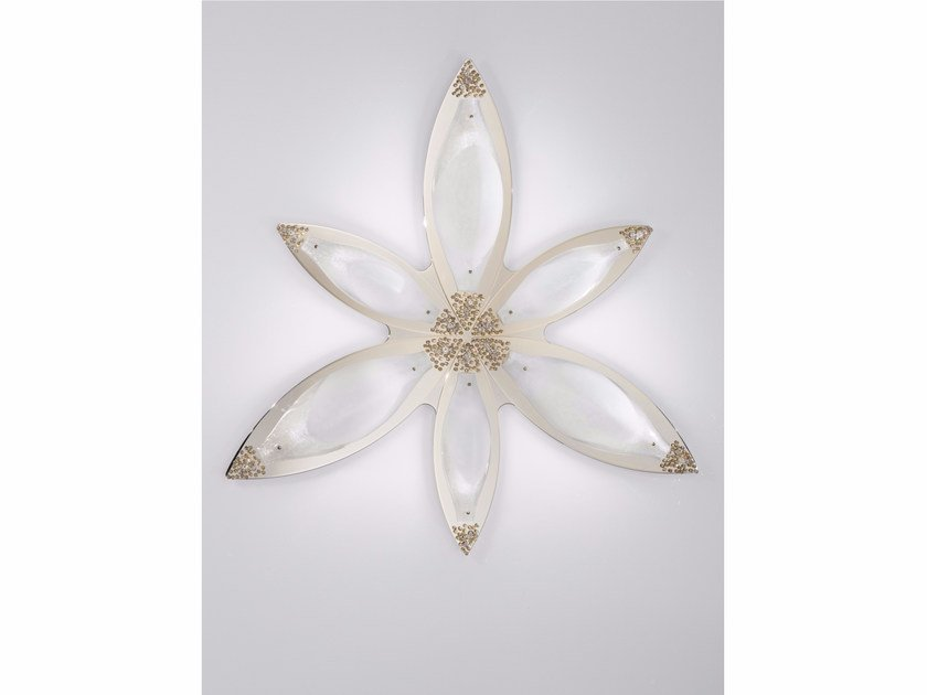 Murano glass wall light with Swarovski® crystals CRYSTAL MOON | Murano glass wall light - IDL EXPORT