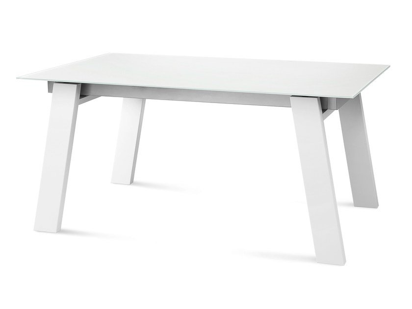 Lacquered rectangular wooden table MUST - DOMITALIA