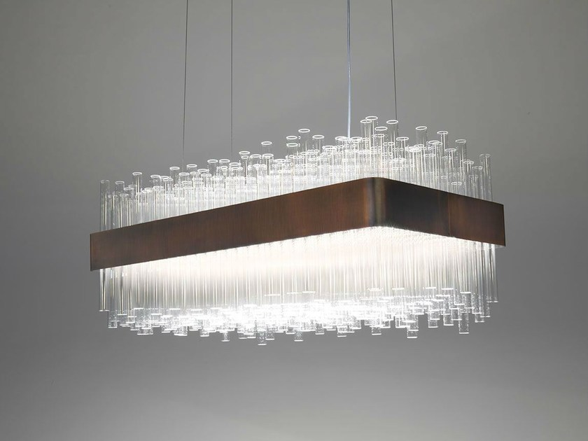 Glass pendant lamp MY LAMP RECTANGULAR - Paolo Castelli