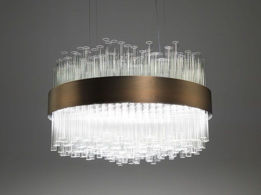 Glass pendant lamp MY LAMP ROUND - Paolo Castelli