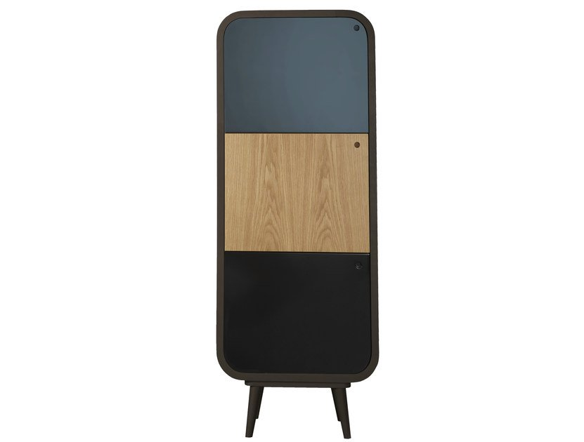Lacquered highboard with doors MYLO | Highboard by AZEA