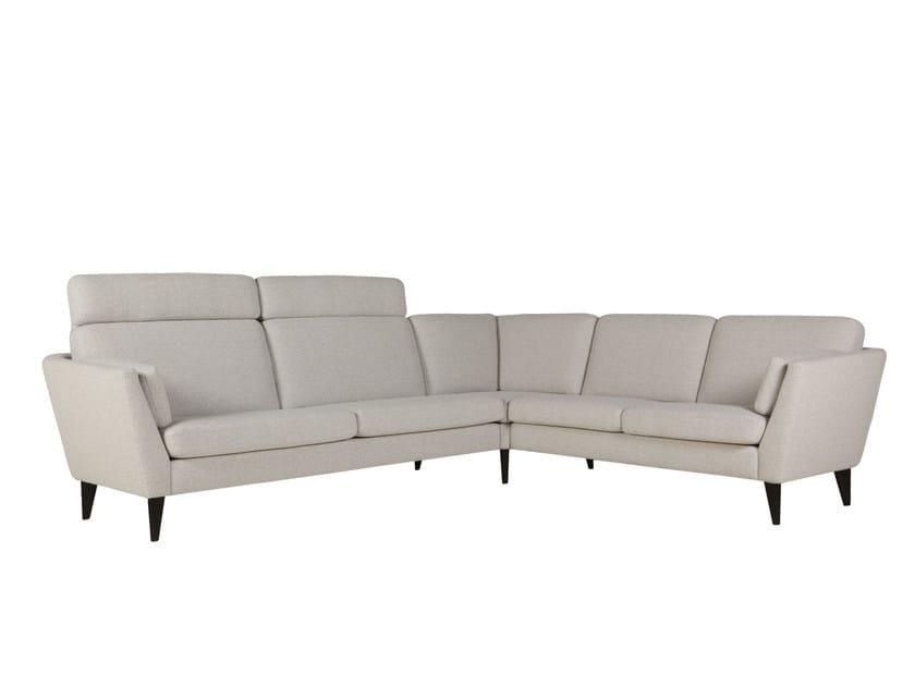 5 seater corner sectional fabric sofa MYNTA | Corner sofa - SITS
