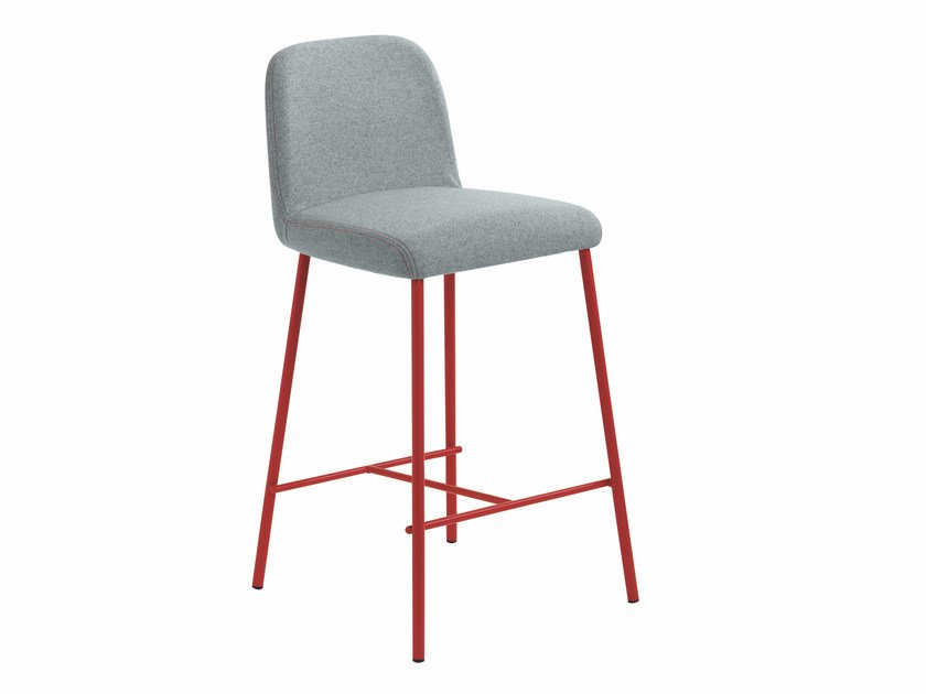 Upholstered fabric counter stool Myra 654B by Metalmobil