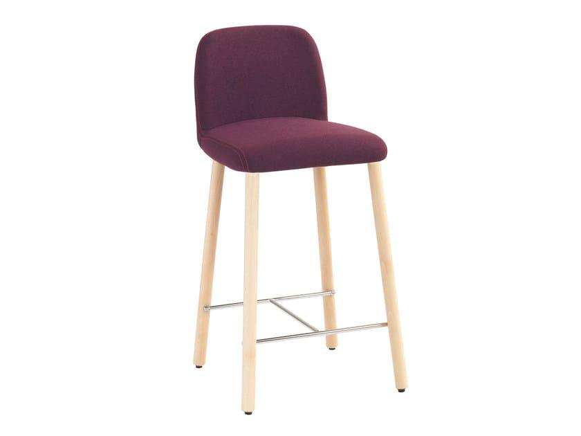 Upholstered fabric counter stool Myra 658B - Metalmobil