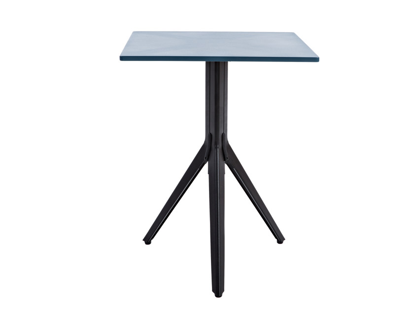 Square stainless steel table N - Tolix Steel Design
