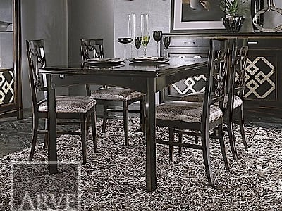 Rectangular solid wood table NAIMA | Extending table - Arvestyle