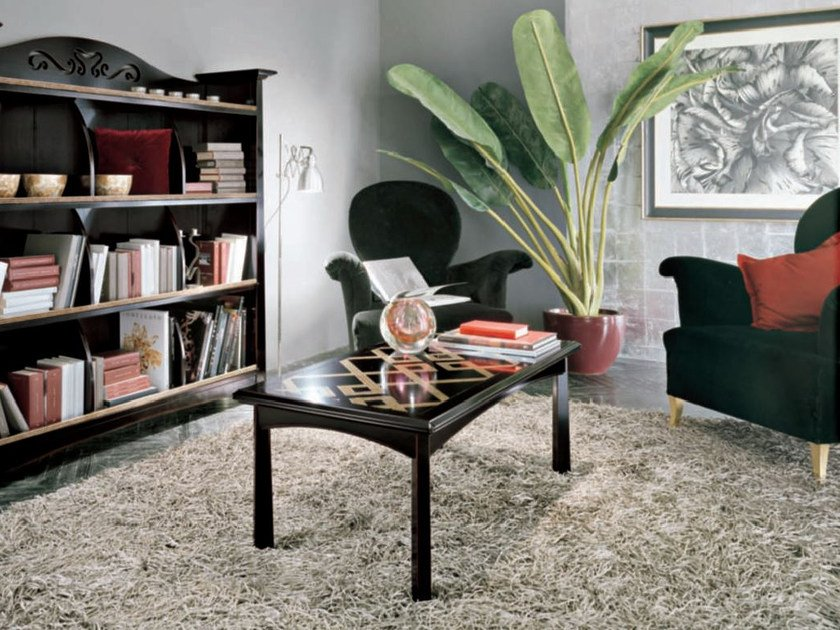 Rectangular solid wood coffee table NAIMA | Lacquered coffee table by Arvestyle