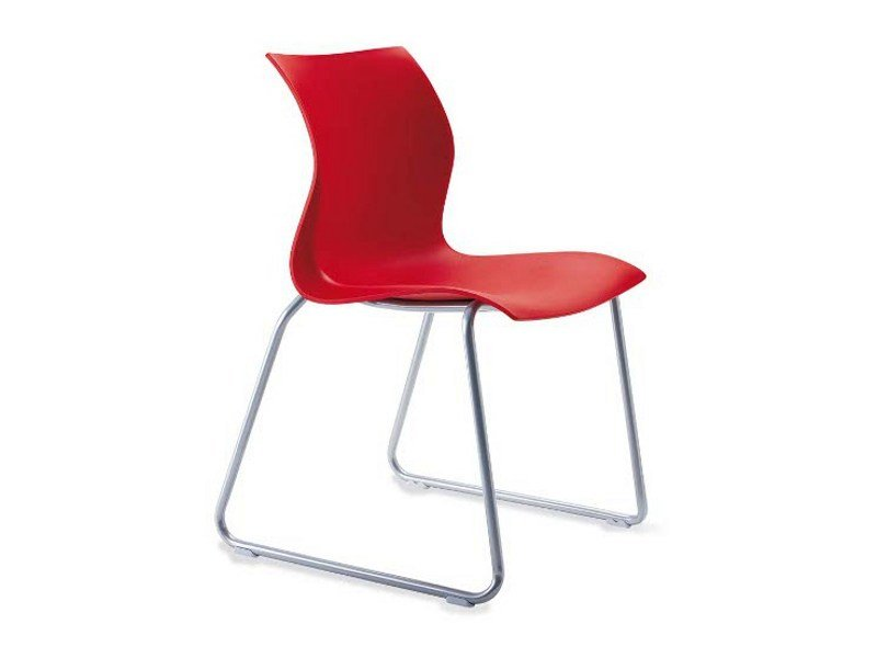 Sled base stackable chair NAMI S0107 by Segis