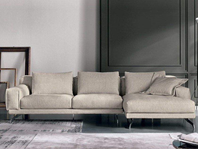 Fabric sofa with chaise longue NANDO | Sofa with chaise longue - Max Divani