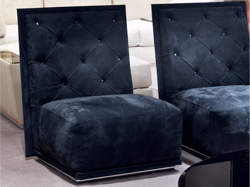 Tufted fabric armchair NAPOLEON | Armchair - Longhi