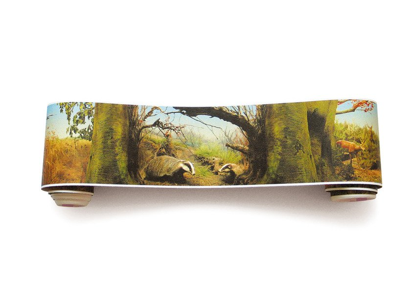 Adhesive panoramic landscape wallpaper NATURAL HISTORY PANORAMA - EXTRATAPETE