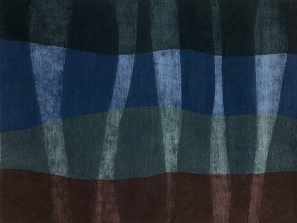 Handmade rectangular rug NAUTICAL by Deirdre Dyson
