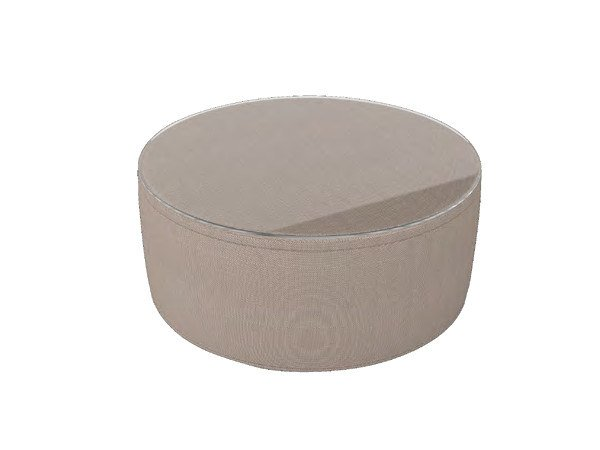 Round glass and aluminium garden side table ANTIGUA | Coffee table by Sérénité Luxury Monaco