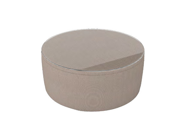 Round glass and aluminium garden side table ANTIGUA | Coffee table - Sérénité Luxury Monaco