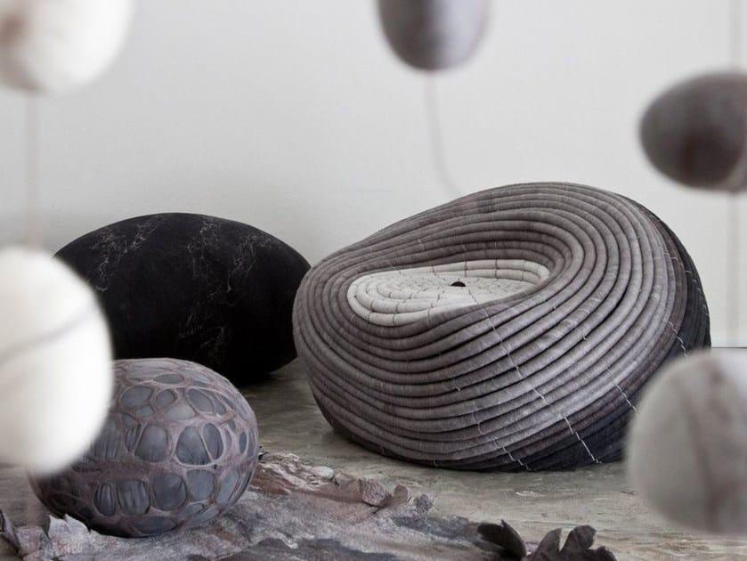 Wool felt armchair NDEBELE | Wool felt armchair - Ronel Jordaan™
