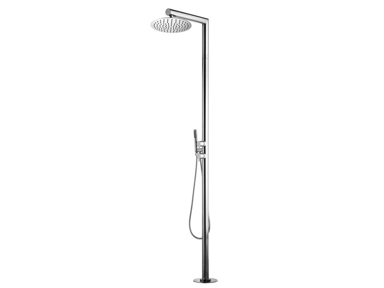 Floor standing shower panel with hand shower Nek Floor Ø 300 - Bossini