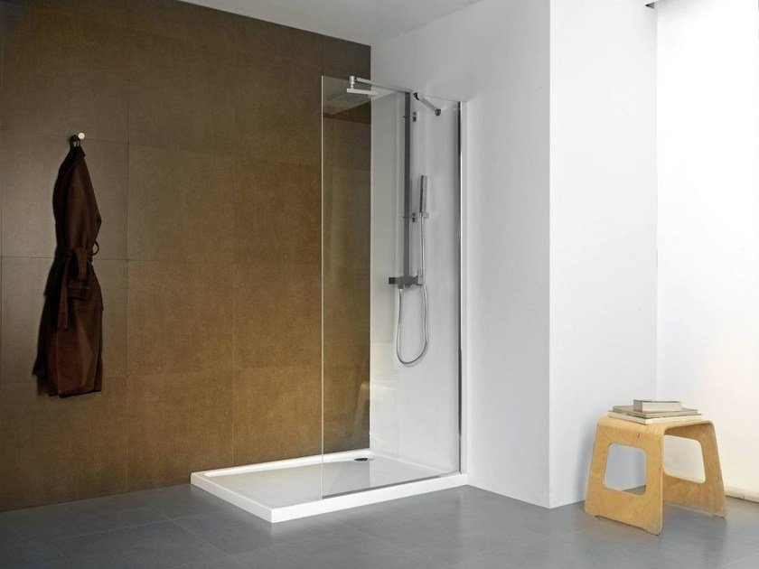 Glass shower wall panel NEO P1 - Systempool