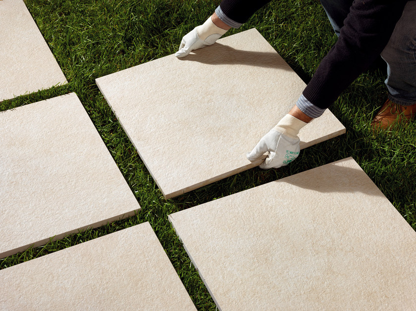 Porcelain stoneware outdoor floor tiles NEUTRA ROC 2CM by Saime Ceramiche