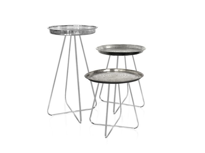 Round metal side table NEW CASABLANCA | Metal coffee table by Mineheart