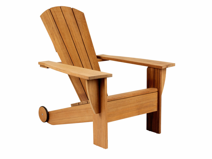 Teak deck chair with armrests NEW ENGLAND | Teak deck chair by ROYAL BOTANIA