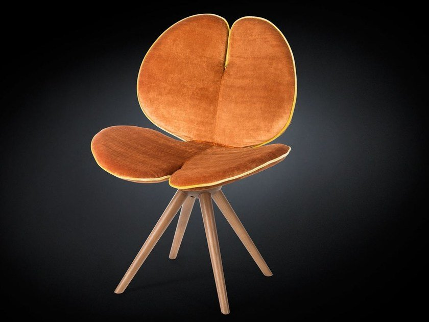 Fabric chair with 4-spoke base NEW PANSE' | Fabric chair - VGnewtrend