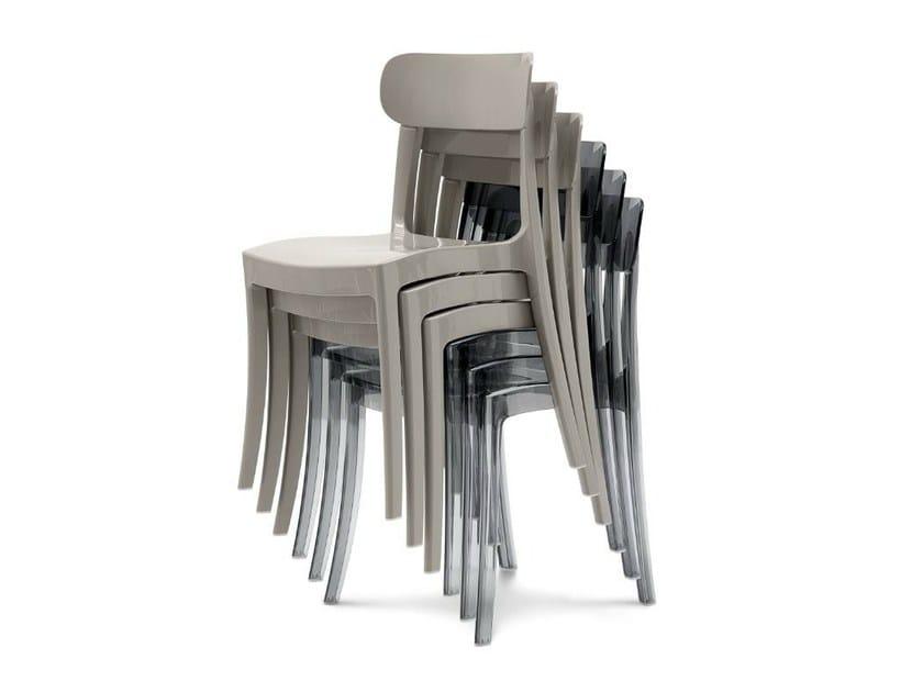 Stackable plastic chair NEW RETRÒ - DOMITALIA