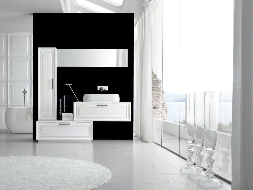 Lacquered single vanity unit NEW STYLE - COMPOSITION 1 - Arcom