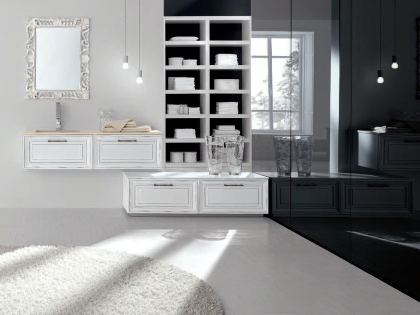 Lacquered vanity unit NEW STYLE - COMPOSITION 7 - Arcom