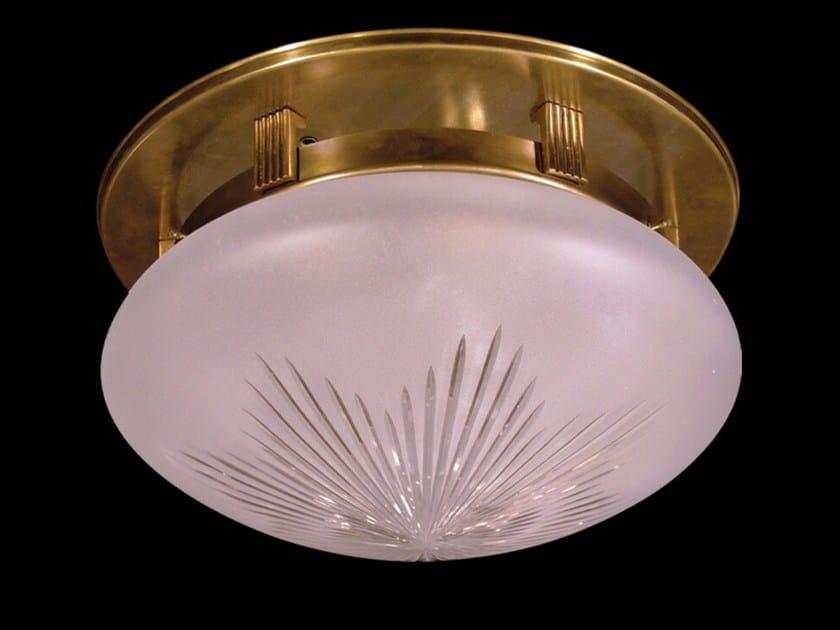 Plafoniera a luce diretta fatta a mano in ottone NEW YORK II | Plafoniera by Patinas Lighting