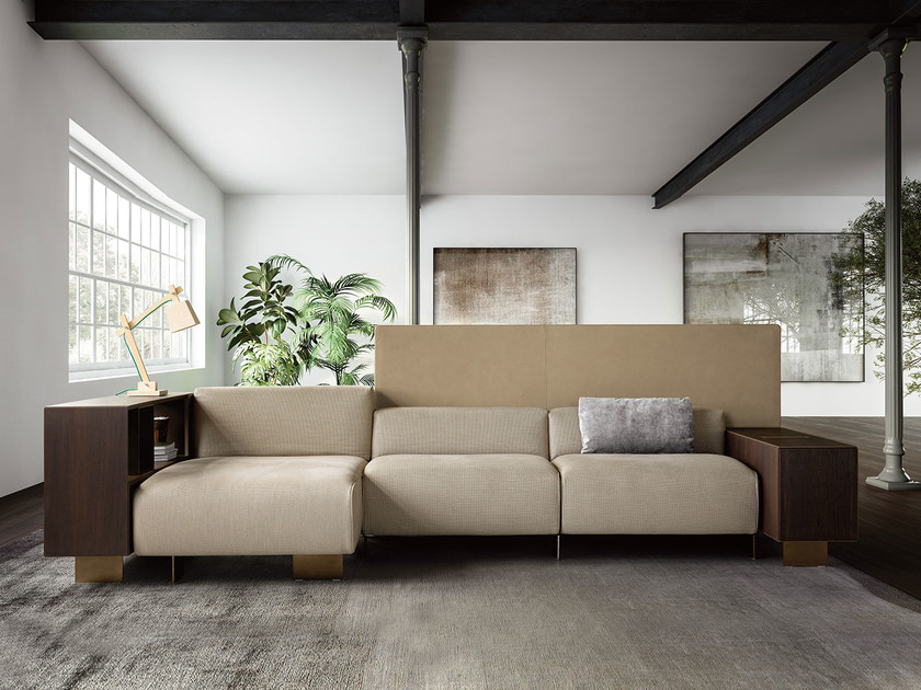 Sectional leather sofa NEWPORT | Leather sofa by PIANCA