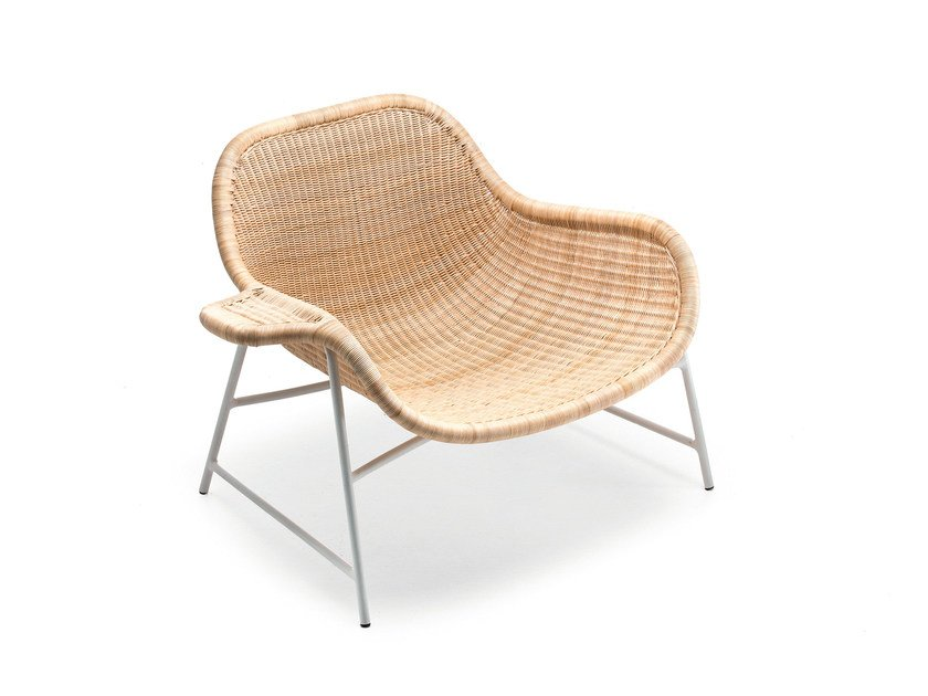 Woven wicker armchair NEXT 27B by Gervasoni