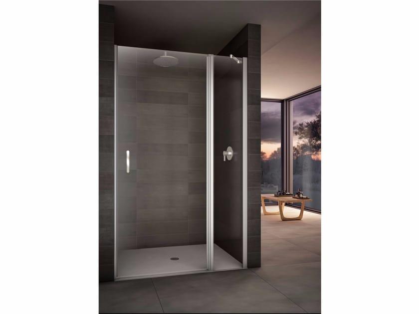Box doccia a nicchia con piatto con porte a battente LOOK | Box doccia a nicchia by Provex Industrie