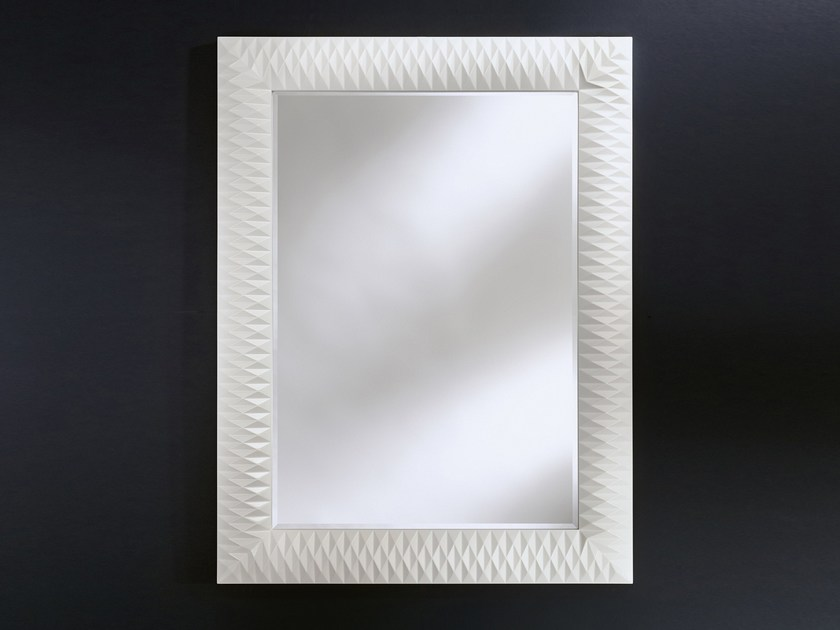 Rectangular wall-mounted framed mirror NICK M - DEKNUDT MIRRORS