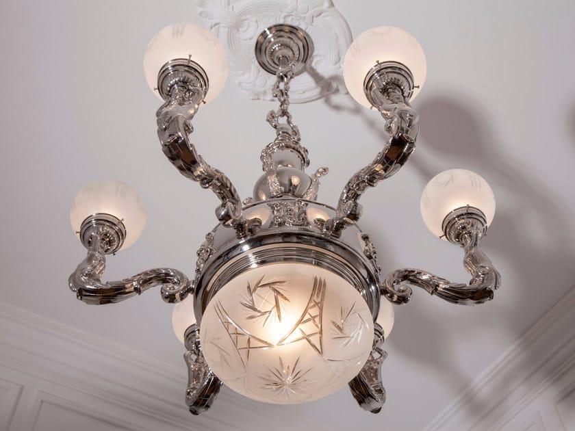Lampada a sospensione a luce diretta in nichel MOSCOW | Lampada a sospensione in nichel - Patinas Lighting