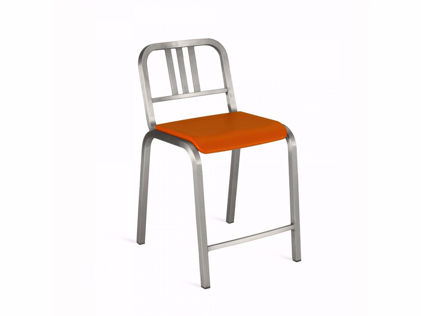 Stackable aluminium chair NINE-O™ | Chair by Emeco