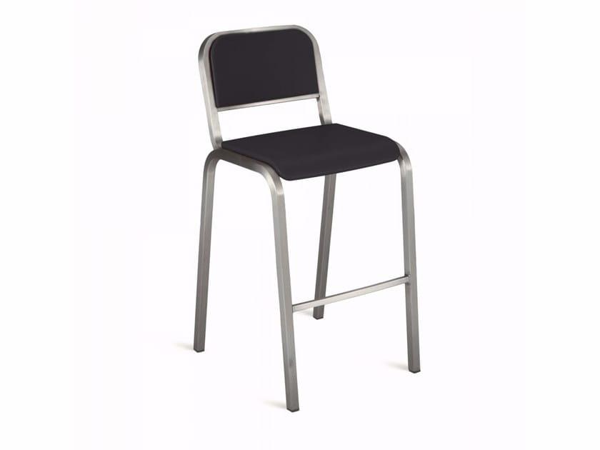 High stackable aluminium stool NINE-O™ | High stool - Emeco