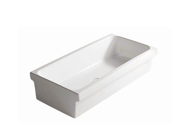 Ceramic Public washbasin NINIVE 120 - GALASSIA