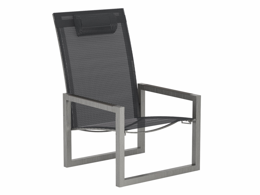Recliner Batyline® deck chair with armrests NINIX | Deck chair - ROYAL BOTANIA