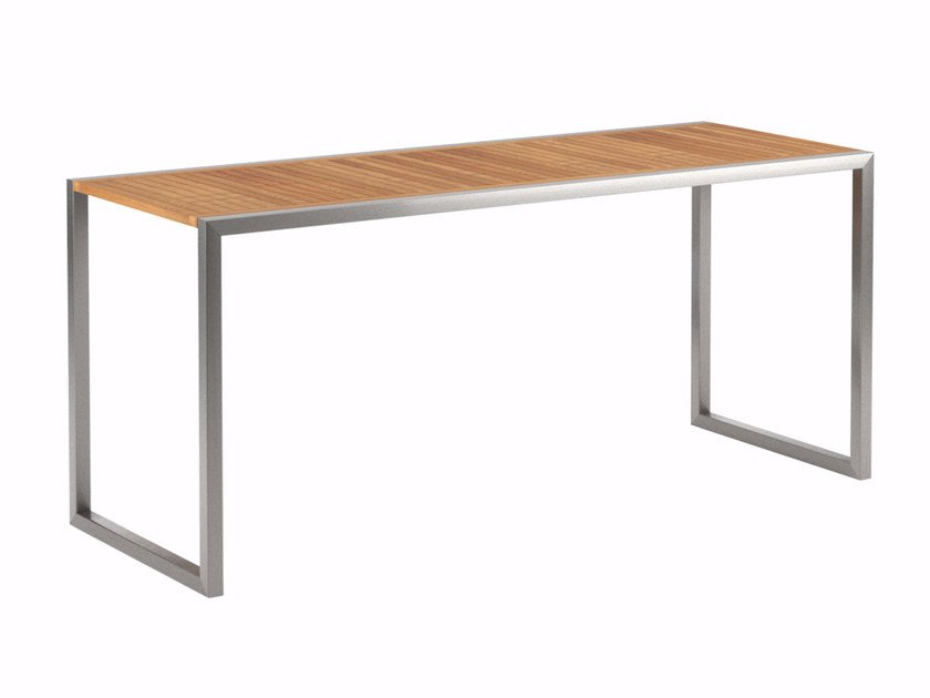 Rectangular teak high table NINIX | High table - ROYAL BOTANIA