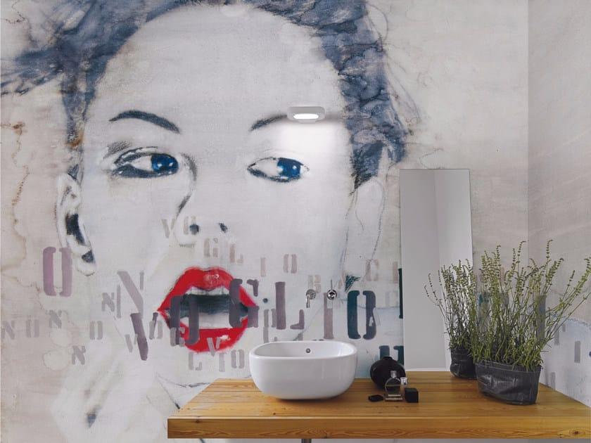 Pop art wallpaper NO KISS - Inkiostro Bianco