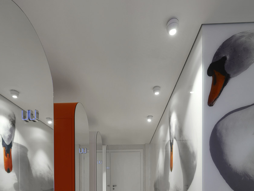Faretto a LED da semi-incasso orientabile in alluminio NOBALL - GLIP by S.I.L.E
