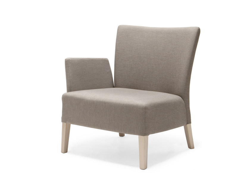 Upholstered fabric armchair with armrests NOBLESSE 215 - Origins 1971