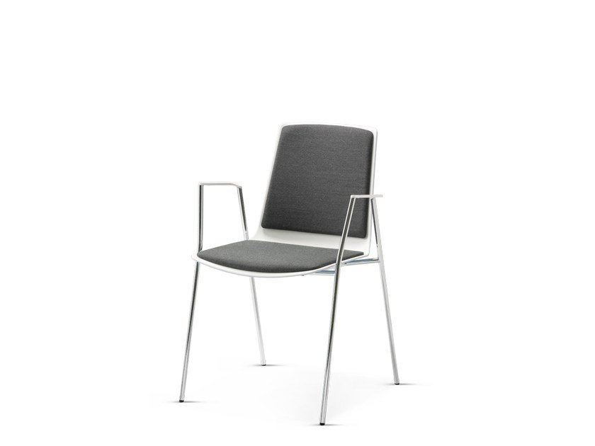 Stackable fabric chair with armrests NOOI | Restaurant chair by Wiesner-Hager