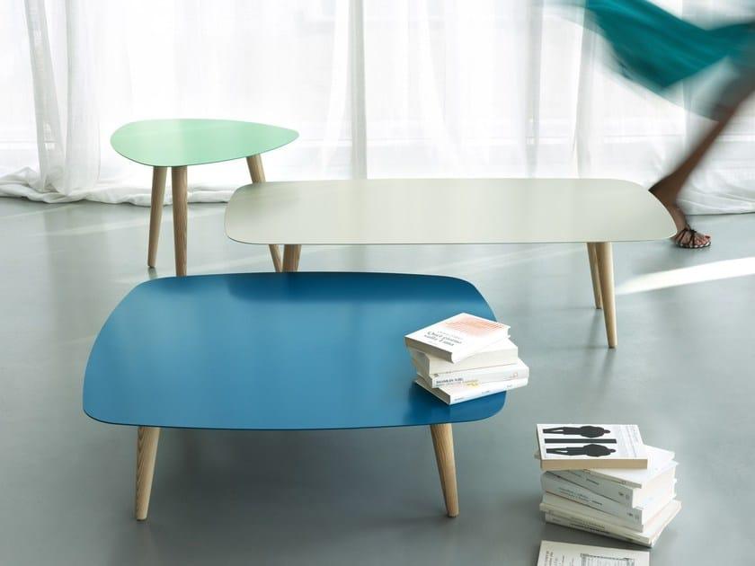 Lacquered square metal coffee table NORD QUADRO - MEME DESIGN