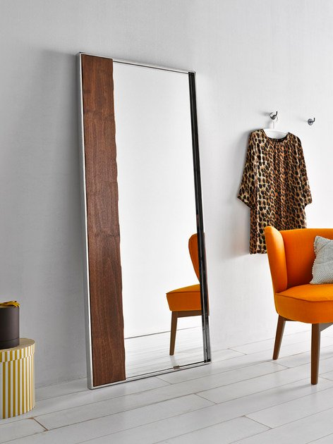 Contemporary style framed freestanding rectangular mirror NORDIC | Mirror by Altinox
