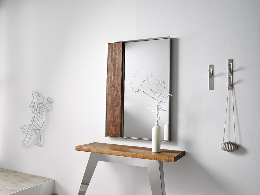 Contemporary style rectangular mirror NORDIC | Wall-mounted mirror - Altinox Minimal Design